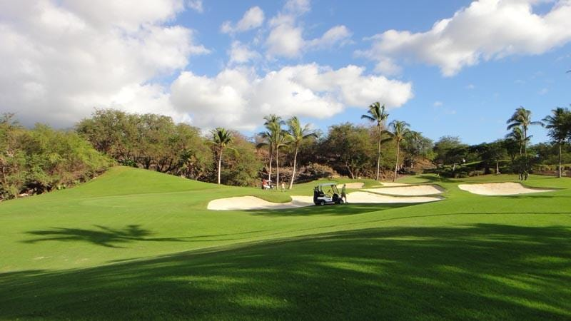 Wailea Emerald Golf Bunkers