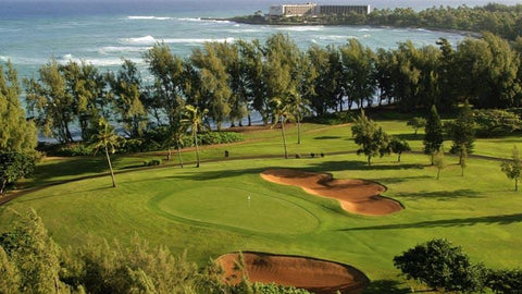 Turtle Bay Resort Fazio view of the 6th green