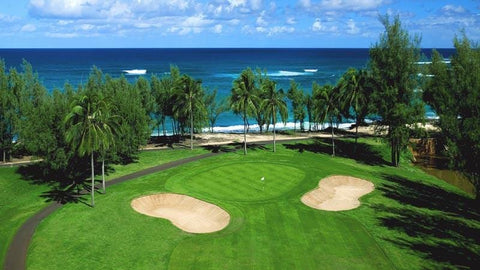 Turtle Bay Resort Fazio view towards 6 green and ocean