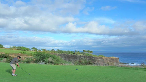 The Challenge at Manele Chip shot