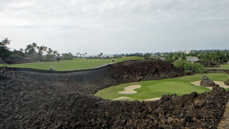 Mauna Lani North 17 green and 18 teebox