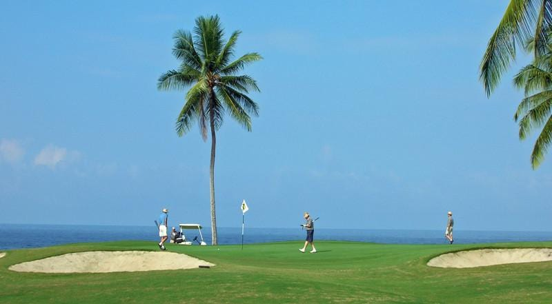 Kona Country Club Ocean golfers