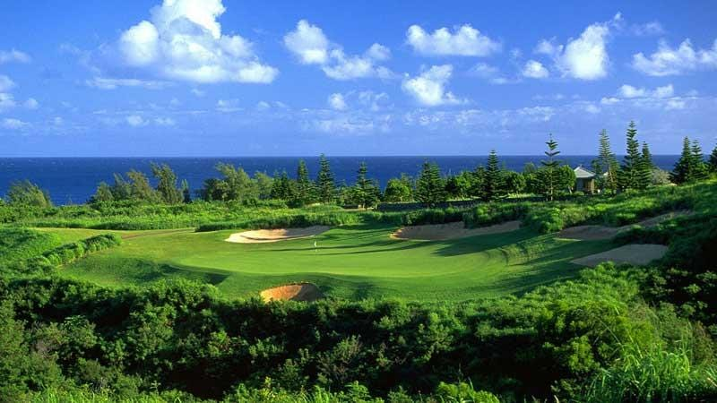 Kapalua Plantation 8th green