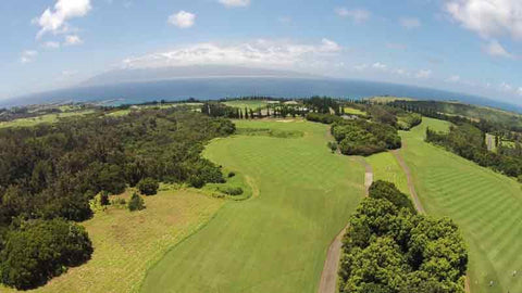 16th and 17th holes at Kapalua Plantation