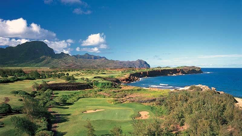 Poipiu Bay Golf Course Magnificent views of holes 14-16