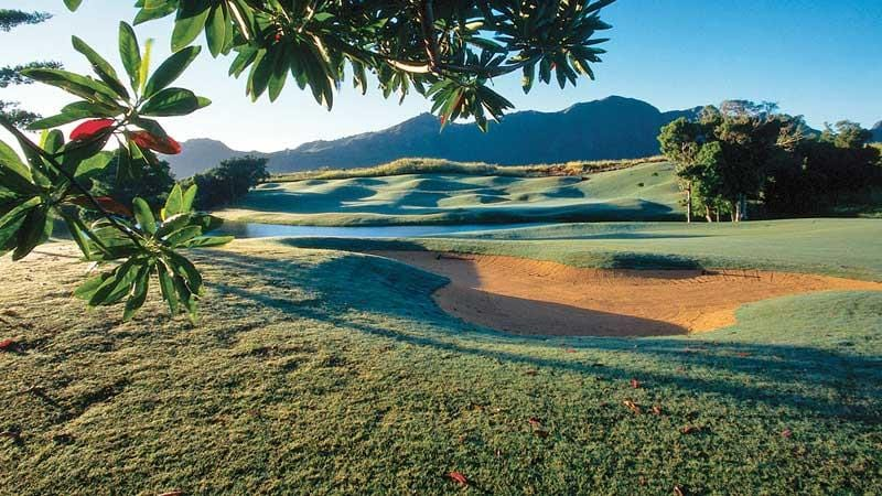 The beautiful 10th hole at Puakea Golf Course in amazing Hawaii