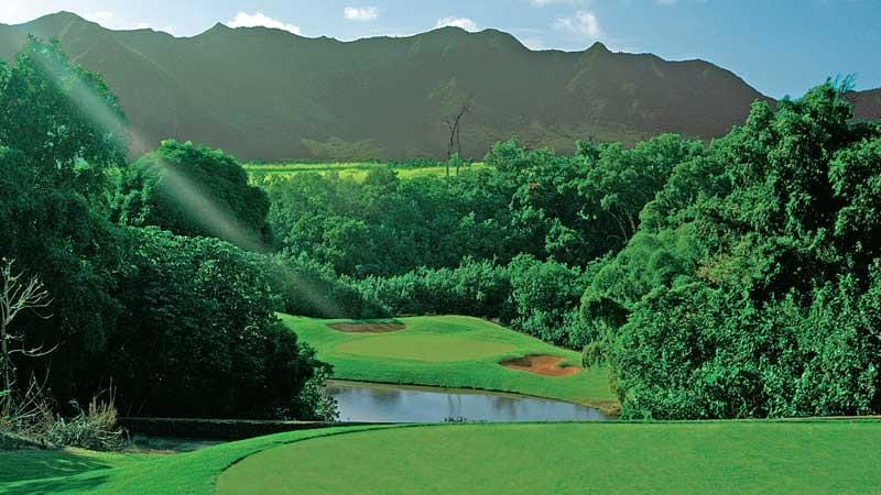 The Signature 6th hole Puakea Golf Course Hawaii
