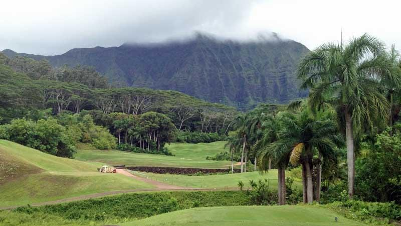 The very tough par 5 8th hole at Royal Hawaiian