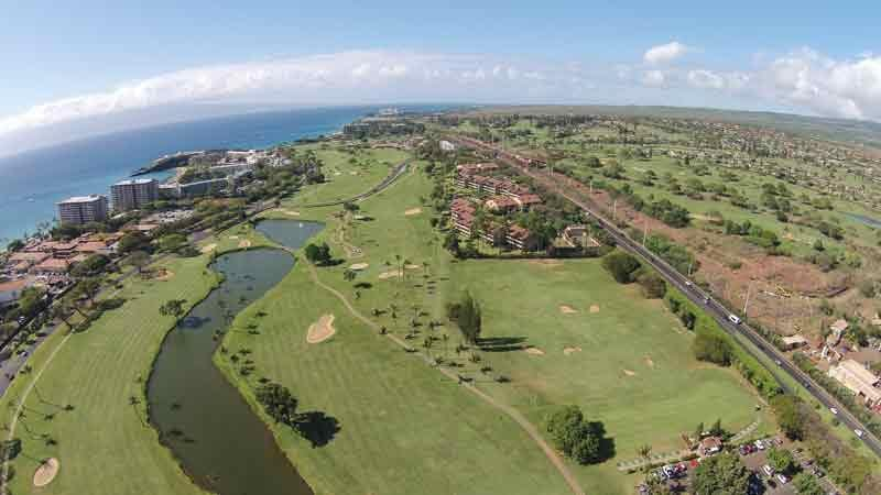 Kaanapali Royal aerial views of course range and clubhouse
