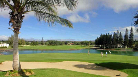 18th hole at Waikoloa Village in Hawaii