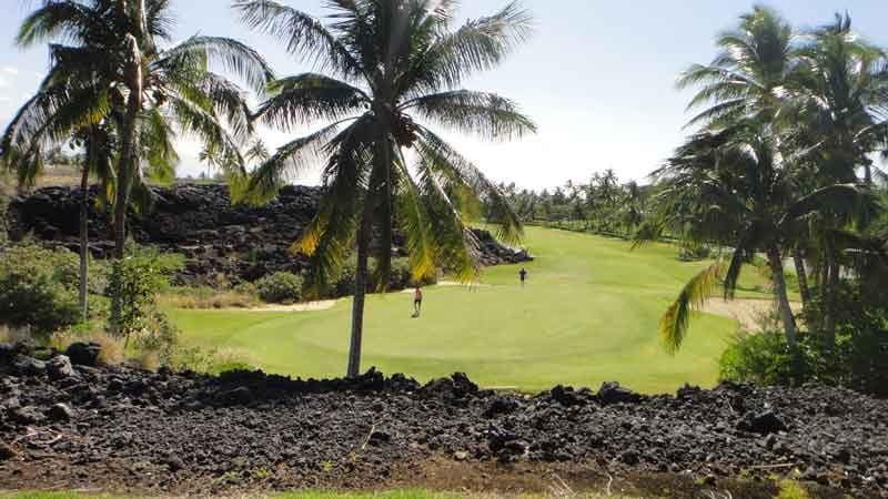 Waikoloa Beach Lava around the 5th green