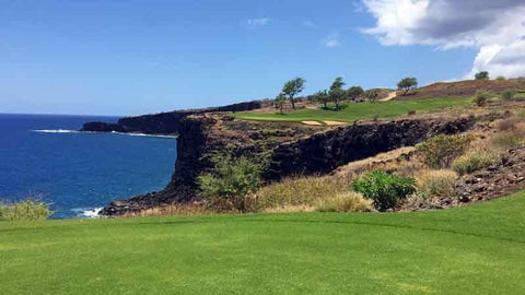 12th tee at The Manele Course with Hawaii Tee Times