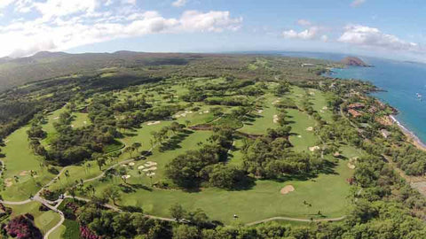 Wailea Gold Aerial Shot via Hawaii Tee Times