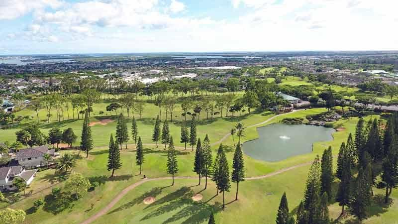 Waikele Country Club Aerail Shot Hawaii Tee Times