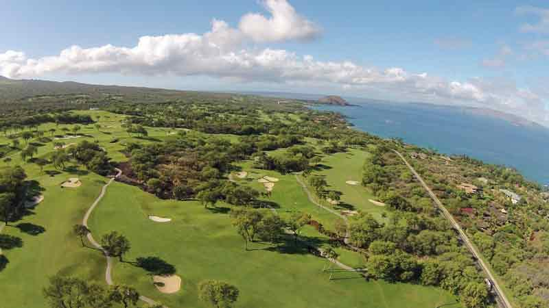 Wailea Emerald Aerial Shots with Hawaii Tee Time Drone