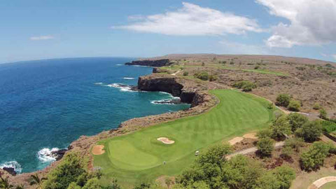 The 17th ocean hole at The Manele Course