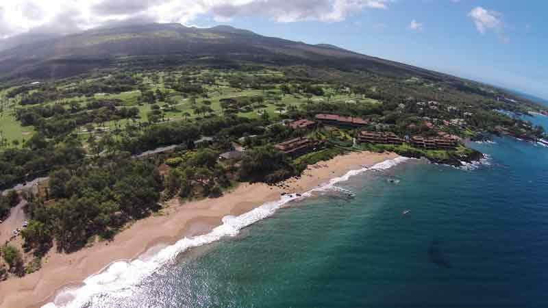 Views from ocean of Wailea Gold