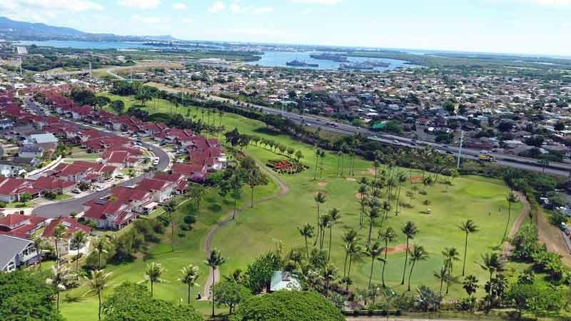 Aerial Shot Waikele Country Club Hawaii Tee Times