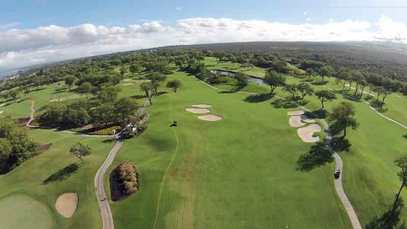 Wailea Emerald Maui Golf Course aerial views with HTT Drone