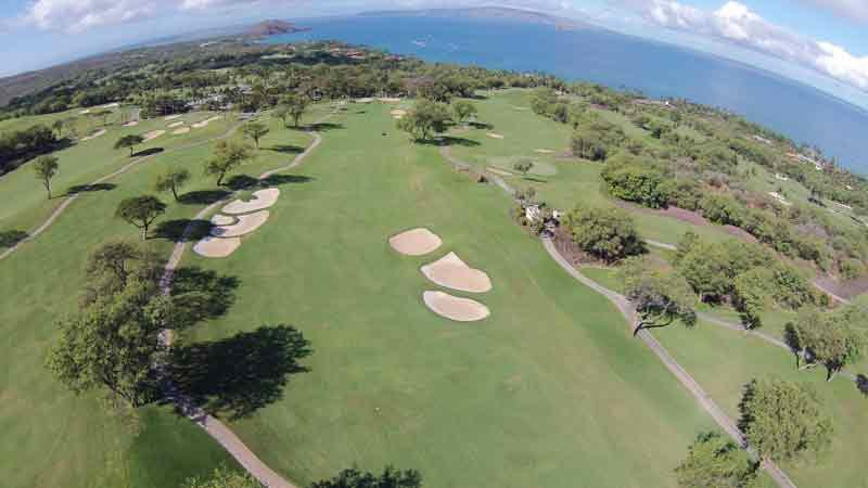 Wailea Emerald aerial view of front nine fairways