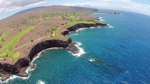Manele Cliffs filmed with drone from Hawaii Tee Times