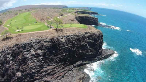 Someamazing views of the 11th and 12th holes at Manele