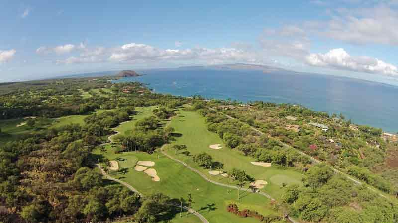 Aerial View Wailea Emerald Hawaii Tee Times