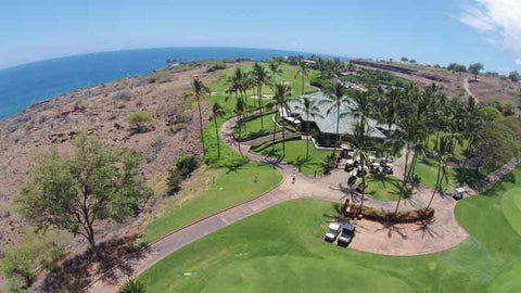 Manele Clubhouse from Aerial Shot