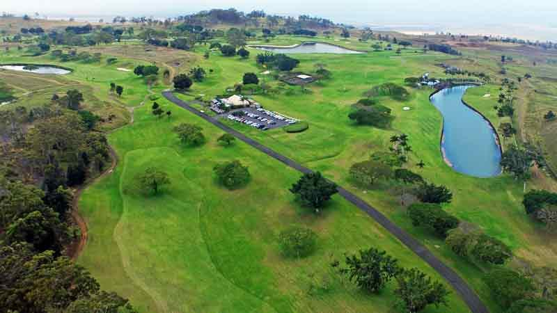 Makani Golf Club 18th hole Hawaii Tee Times
