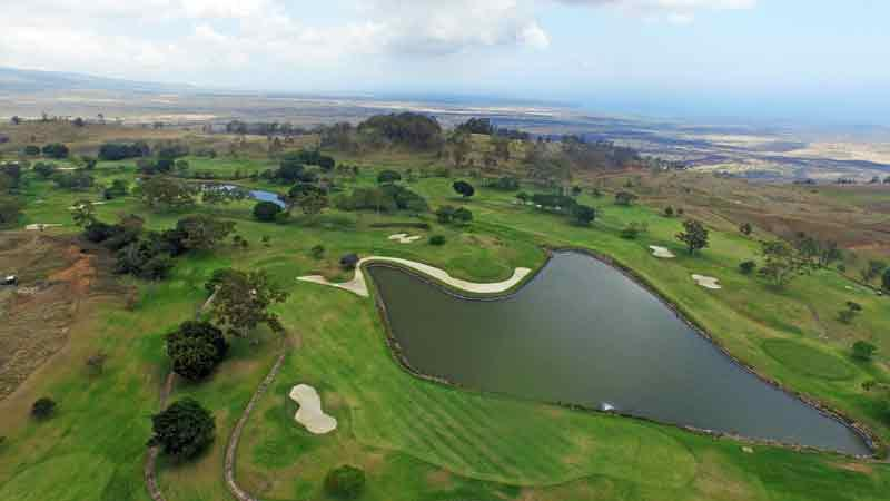 Makani Golf Club lake around 9th and 10th holes