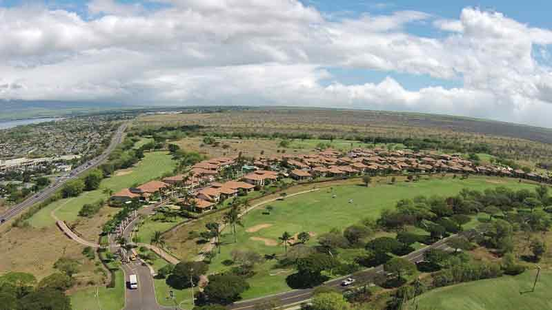 Elleair Golf  Club back nine aerial shots from drone