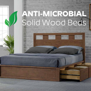 Anti-Microbial Wooden Beds @ IMM