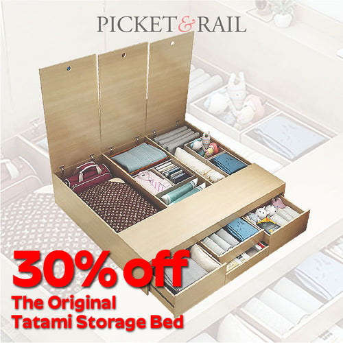 The Original Tatami Storage Bed by Picket&Rail + FREE Mattress