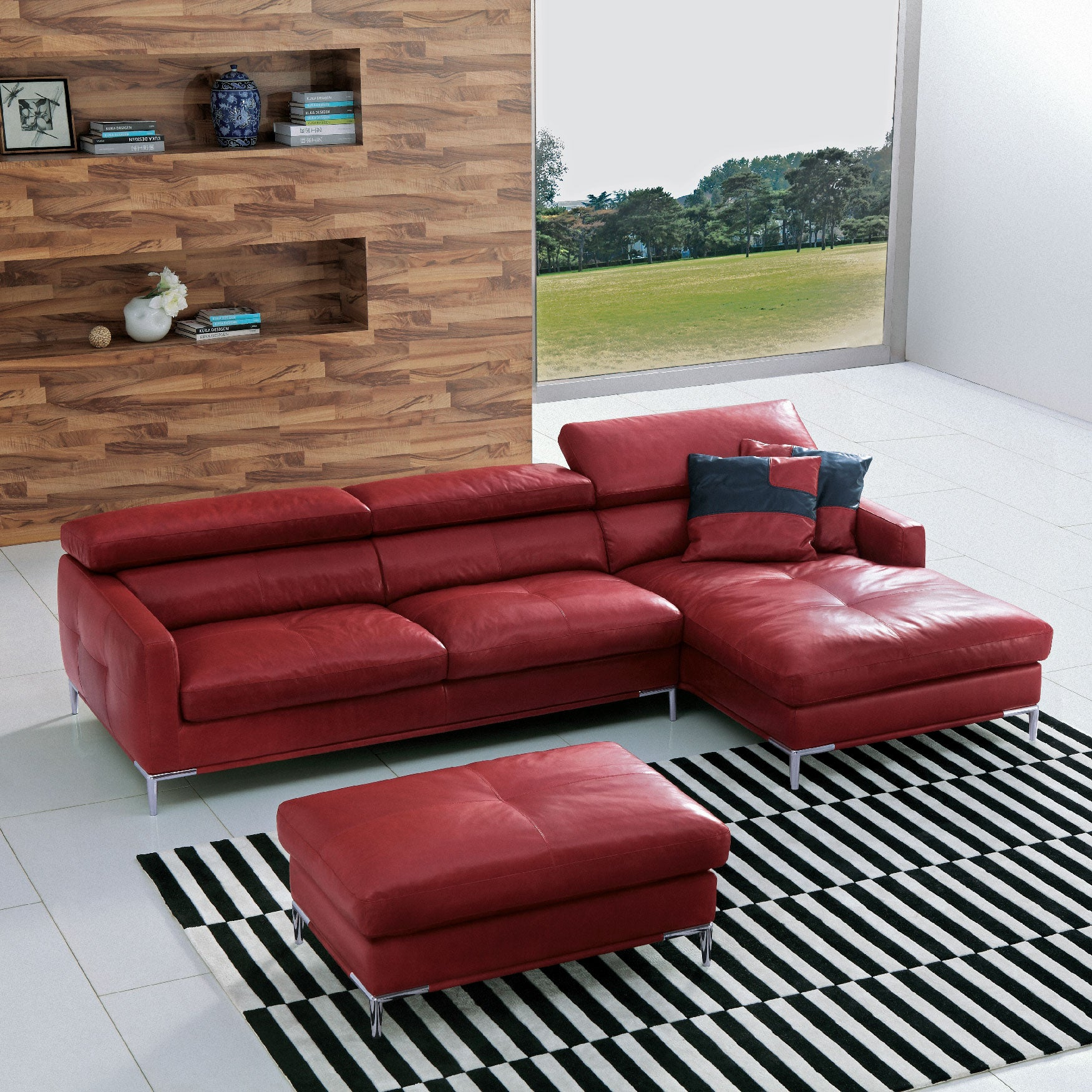 Best Leather Sofas In Singapore: Bestselling KUKA 1281 Jacob Leather Sofa W/Stainless Steel
