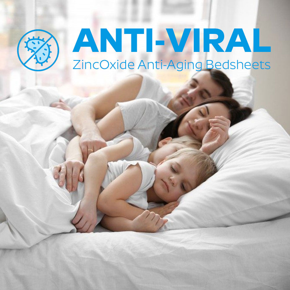 All Fitted Beddings & Pillow Cases w/ Anti-Bacterial Anti-Aging Properties