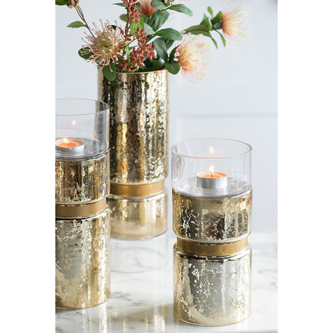 Halloway Gold Candle Holder
