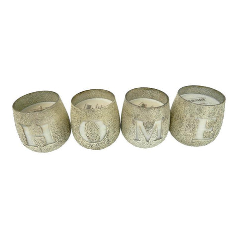 HOME Earl Grey Scented Candle Set of 4