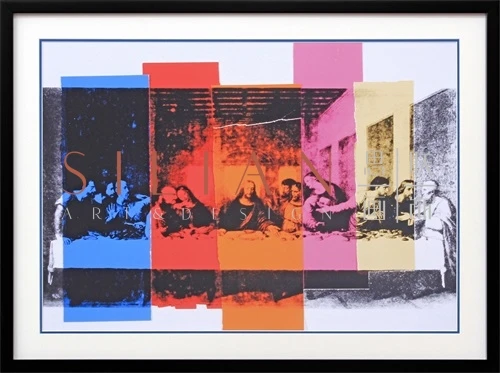 a licensed print of the last supper by andy warhol