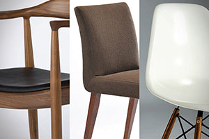 Choice of Fabric, Leather or Fiberglass Chairs