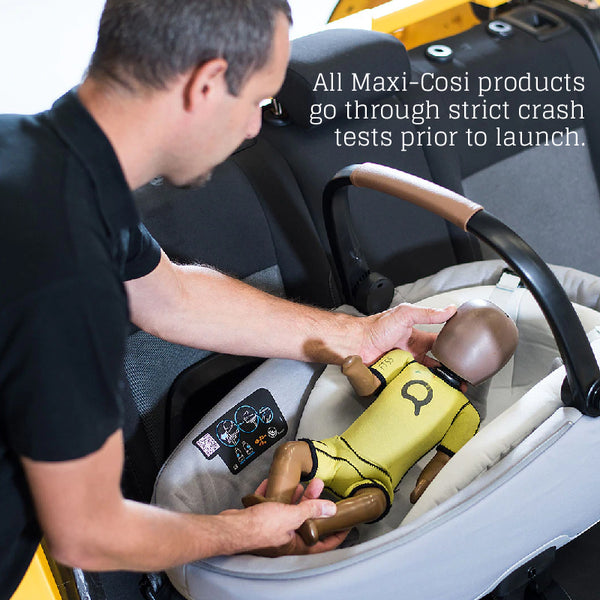 Maxi-Cosi products undergo crash-testing and ensures safety prior to launch
