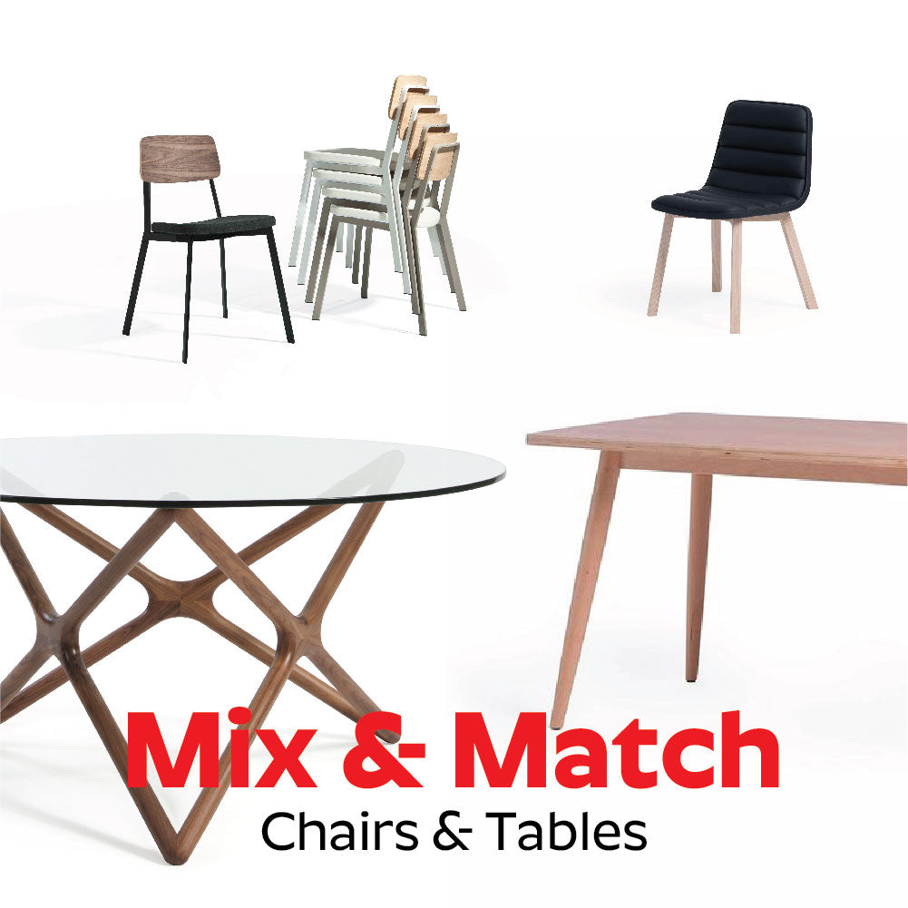 Mix & Match Chairs & Table