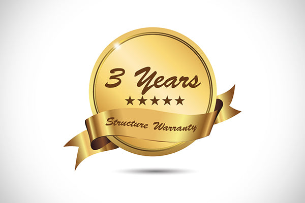 3 Years Structural Warranty