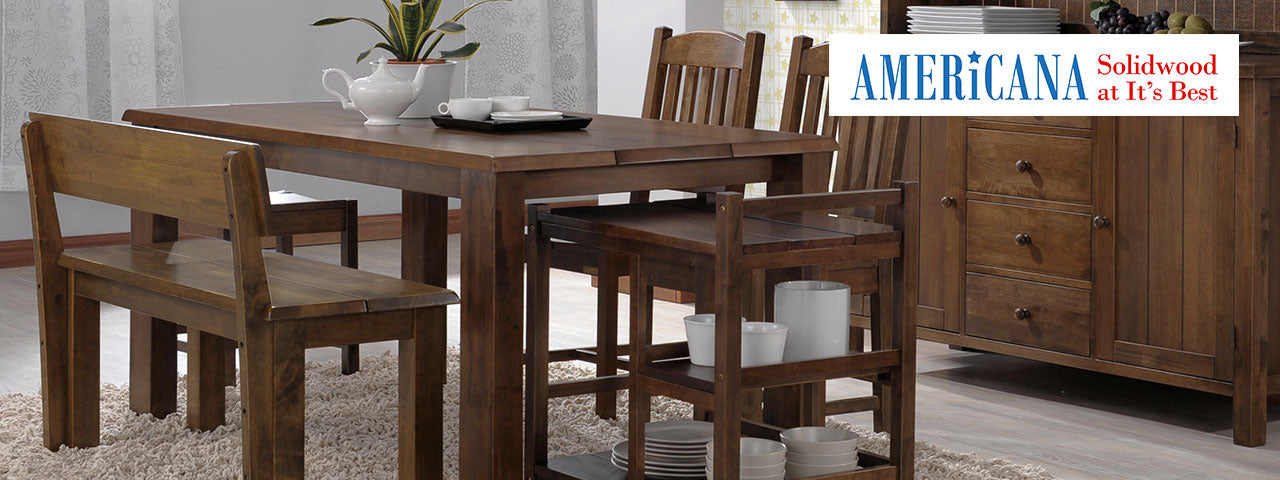 Americana Solid Wood Furniture Collection Tables Chairs