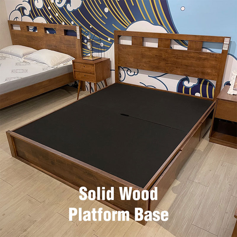 Solid Wood Platform Base