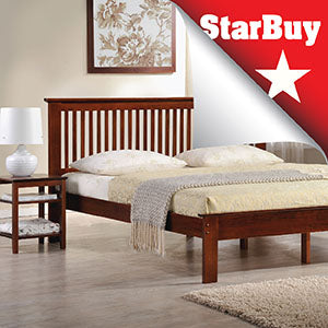 Mission Queen Bed - Now: $699 | Usual: $1399