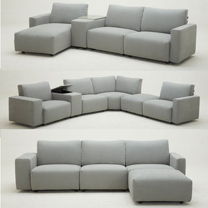 Modular Leather and Fabric Sofas by Picket&Rail