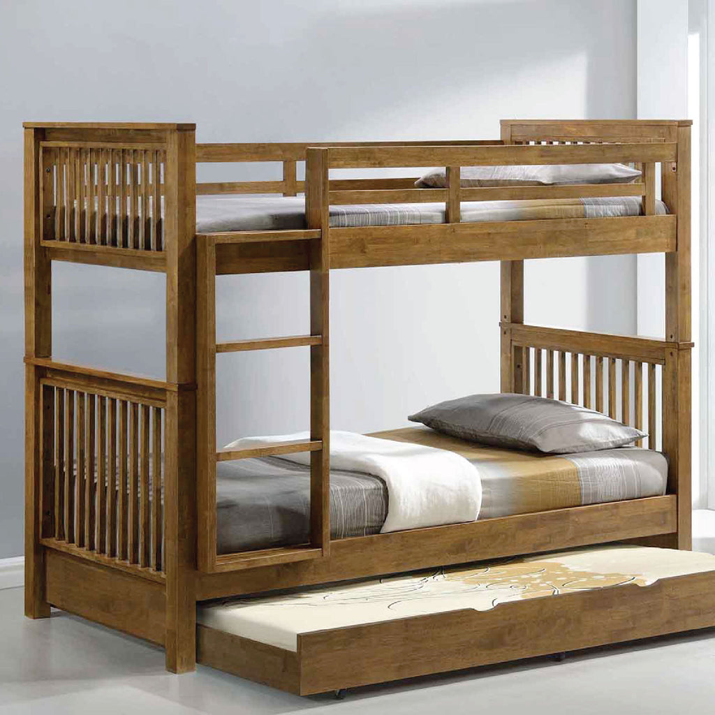 Americana Single Bunk Bed with Trundle