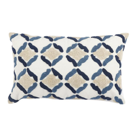 embroider moroccan tile inspired pillow