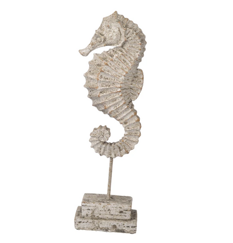 fossil inspired seahorse sculpture