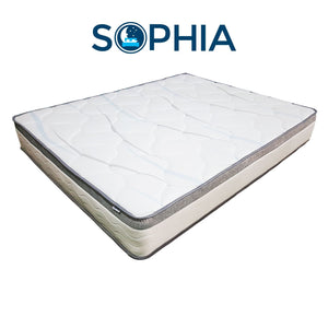 SOPHIA® Double-Tempered Carbon Pocketed Spring Queen Mattress w/Double-Knitted Extra Cool Fabric Top **CLEARANCE**